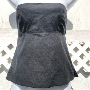 Full Tilt Halter Top Sm Strapless Black